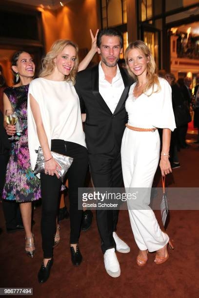 Amanda da Gloria Judith Richter Florian Odendahl Nina Gnaedig during the opening night of the Munich Film Festival 2018 reception at Hotel...