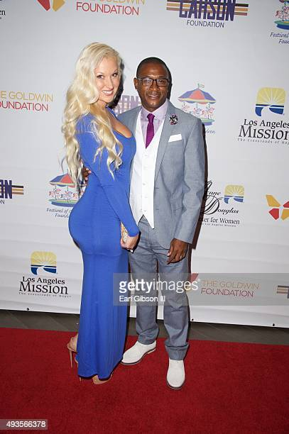 Amanda Davidson and actor/comedian Tommy Davidson attend the Los Angeles Mission Gala at Four Seasons Hotel Los Angeles at Beverly Hills on October...