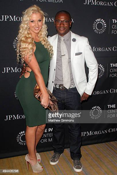 Amanda Davidson and comedian Tommy Davidson attend the Paley Center for Media's tribute to africanamerican achievements in television at the Beverly...