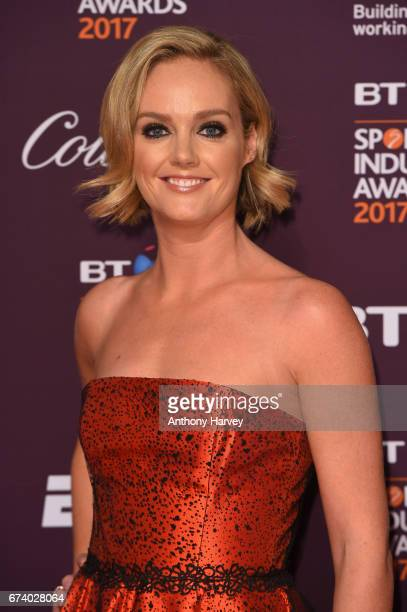 Amanda Davies poses on the red carpet during the BT Sport Industry Awards 2017 at Battersea Evolution on April 27 2017 in London England The BT Sport...