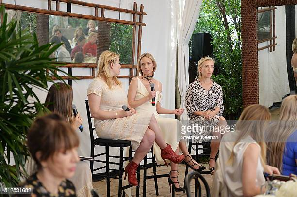 Amanda de Cadenet Amber Valletta and Sam TaylorJohnson attend NETAPORTER Celebrates Women Behind The Lens at Chateau Marmont on February 26 2016 in...