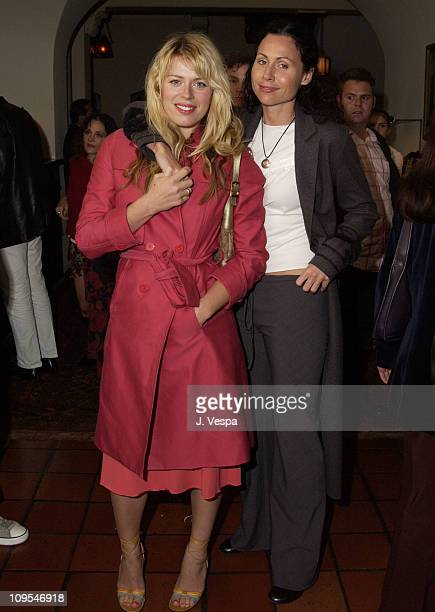 Amanda De Cadenet and Minnie Driver during Details Magazine hosts 'Chelsea Walls' Premiere and After Party Los Angeles at Laemmle Sunset and Chateau...