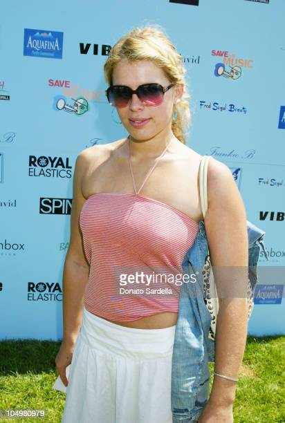 Amanda De Cadenet during Frankie B Fashion Show Event at Lake Hollywood Park at Lake Hollywood Park in Los Angeles California United States
