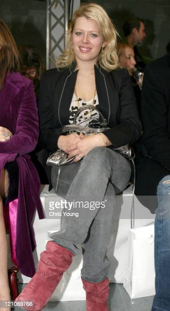 Amanda de Cadenet during London Fashion Week Autumn/Winter 2006 Giles Front Row at Victoria House in London Great Britain