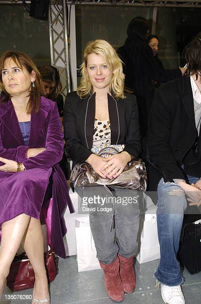 Amanda De Cadenet during London Fashion Week Autumn/Winter 2006 Giles Front Row at Victoria Square in London Great Britain