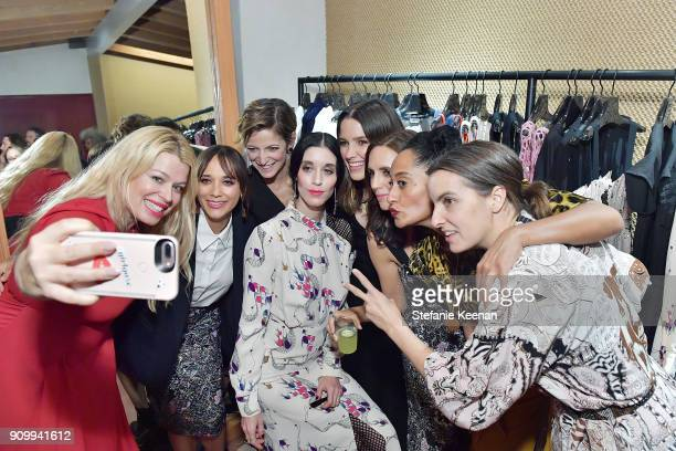 Amanda de Cadenet Rashida Jones Cindi Leive Sarah Sophie Flicker Sophia Bush Paola Mendoza Tracee Ellis Ross and Rachel Comey attend Conde Nast The...