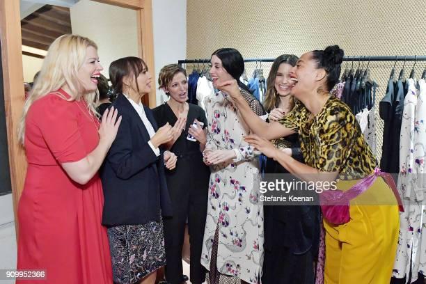 Amanda de Cadenet Rashida Jones Cindi Leive Sarah Sophie Flicker Sophia Bush and Tracee Ellis Ross attend Conde Nast The Women March's Cocktail Party...