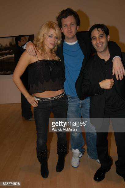 Amanda de Cadenet Richard Brown and Jason Weinberg attend Helmut Newton and Andy Warhol Exhibit at Gagosian Gallery New York Hotel on February 26...