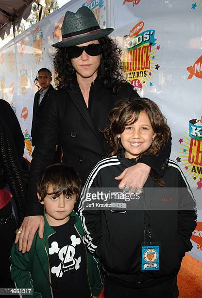 Amanda Demme and family during Nickelodeon's 19th Annual Kids' Choice Awards Orange Carpet at Pauley Pavillion in Westwood California United States