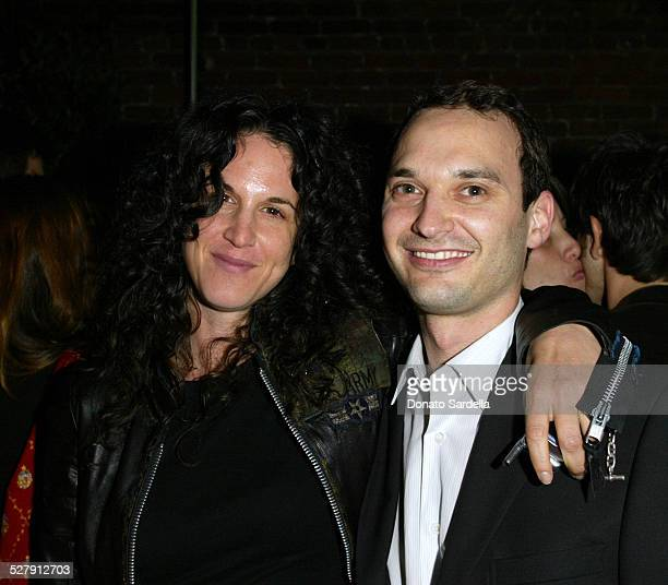 Amanda Demme and Jeff Vespa during Motorola Hosts Opening of Hollywood Graffiti First Exhibition from Artist Jeff Vespa to Benefit OPCC at Traction...