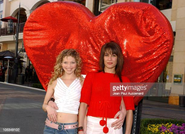 Amanda Detmer and Vanessa Parise during Kiss The Bride Cast Raise Funds for City Hearts at The Grove in Los Angeles California United States