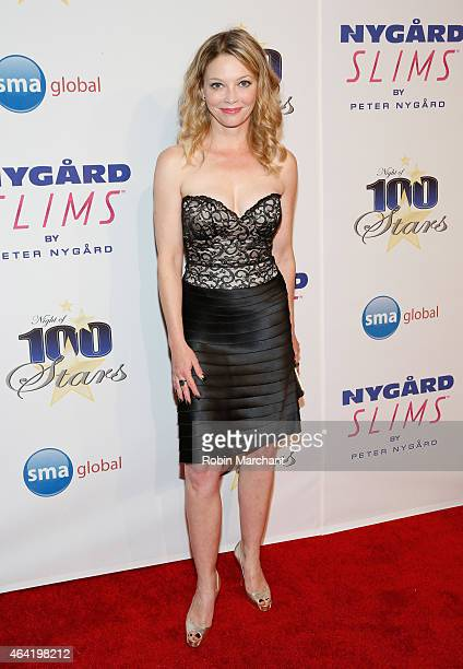 Amanda Detmer attends the Norby Walters 25th Annual Night of 100 Stars Oscar Viewing Gala at The Beverly Hilton Hotel on February 22 2015 in Beverly...