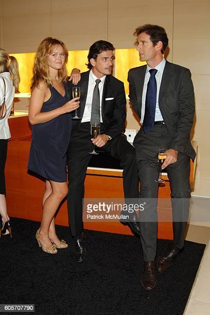Amanda Doll Renaud Charrin and Francois Kress attend BVLGARI Pour Femme Launch at BVLGARI on July 26 2006 in New York City
