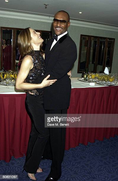Amanda Donahoe and Colin Salmon arrive at the Sony Radio Academy Awards at Grosvenor House Park Lane on May 12 2004 in London The prestigious awards...