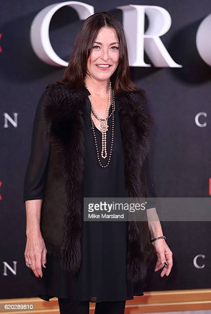 Amanda Donahue attends the world premiere of The Crown at Odeon Leicester Square on November 1 2016 in London England
