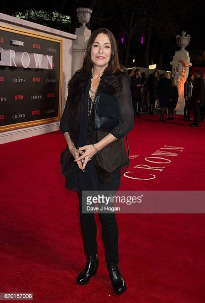 Amanda Donehue attends the World Premiere of new Netflix Original series The Crown at Odeon Leicester Square on November 1 2016 in London England