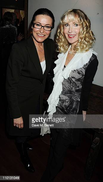 Amanda Donohoe and Basha Briggs attend the i newspaper 100th issue anniversary party at the Century Club on March 15 2011 in London England