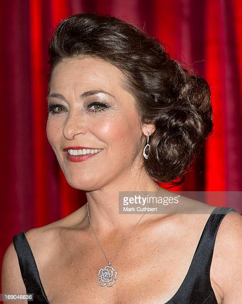 Amanda Donohoe attends the British Soap Awards at Media City on May 18 2013 in Manchester England