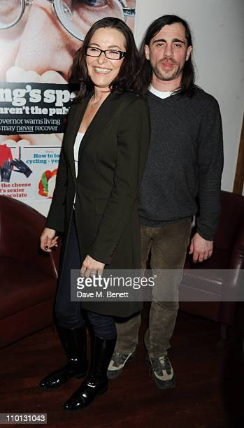 Amanda Donohoe attends the i newspaper 100th issue anniversary party at the Century Club on March 15 2011 in London England