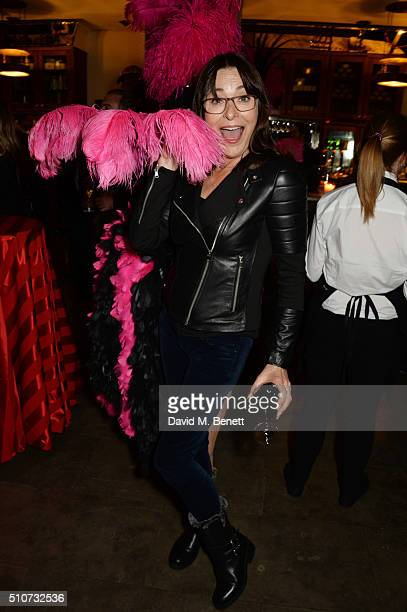 Amanda Donohoe attends the press night after party for Mrs Henderson Presents at The National Cafe on February 16 2016 in London England