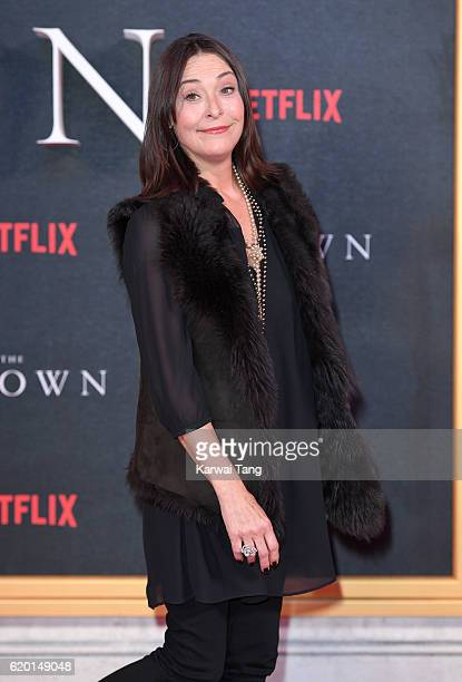Amanda Donohoe attends the world premiere of The Crown at Odeon Leicester Square on November 1 2016 in London England