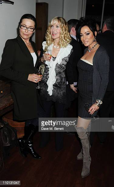 Amanda Donohoe Basha Briggs and Nancy Dell'Olio attend the i newspaper 100th issue anniversary party at the Century Club on March 15 2011 in London...