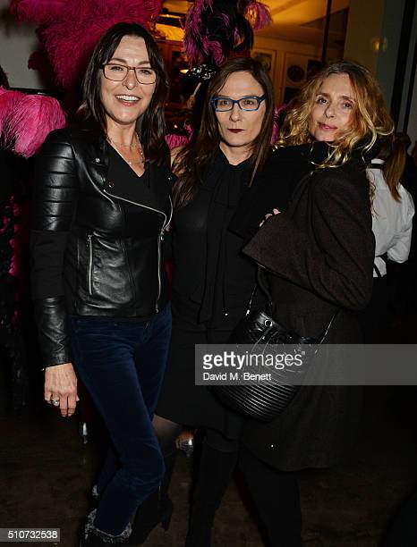 Amanda Donohoe Cordelia Donohoe and Maryam d'Abo attend the press night after party for Mrs Henderson Presents at The National Cafe on February 16...