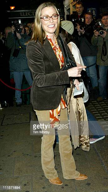Amanda Donohoe during A Life in the Theatre Opening Night Arrivals at Apollo Theatre in London Great Britain
