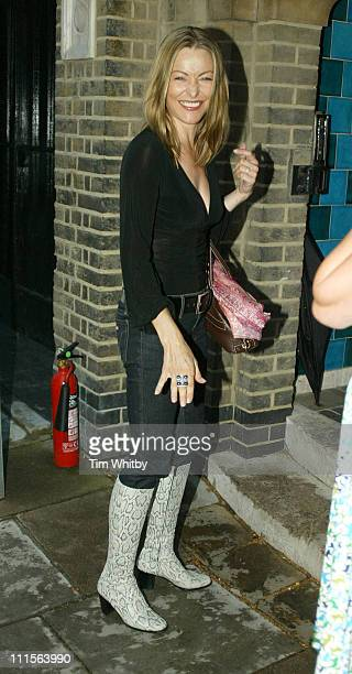 Amanda Donohoe during Krug Rose Celebration Party Arrivals June 28 2005 at Debenham House in London Great Britain