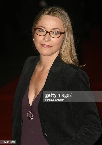 Amanda Donohoe during The Times BFI 49th London Film Festival Good Night and Good Luck Closing Gala Night at Odeon Leicester Square in London Great...