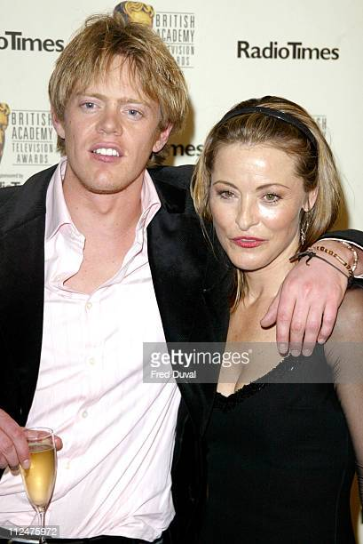 Amanda Donohoe with Kris Marshall during 50th Annual BAFTA Television Awards Press Room at Grosvenor House Hotel in London United Kingdom