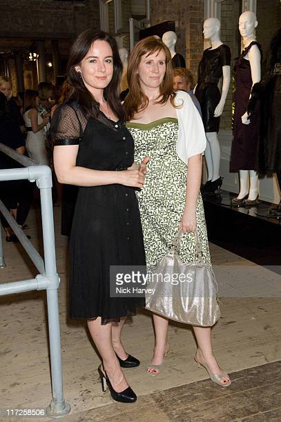 Amanda Drew and Catherine Tate during Marks & Spencer Autumn/Winter 2007 Collection - Inside in London, Great Britain.
