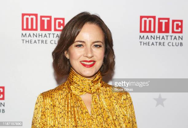 Amanda Drew poses at the 2019 Manhattan Theatre Club Fall Benefit at 583 Park Ave Party Space on November 11, 2019 in New York City.