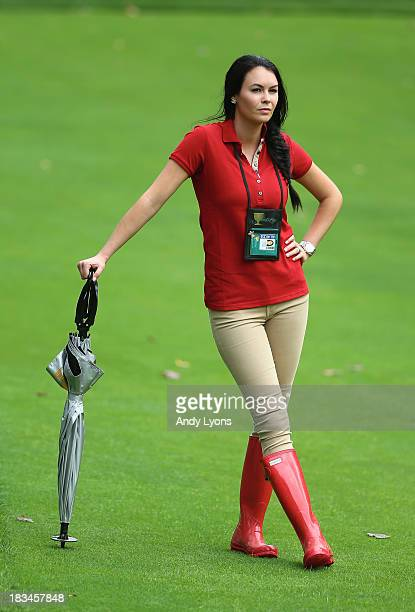 Amanda Dufner watches the action during the Day Four Singles Matches at the Muirfield Village Golf Club on October 6 2013 in Dublin Ohio