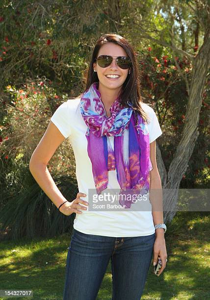 Amanda Dufner wife of Jason Dufner of the USA poses during day one of the Perth International at Lake Karrinyup Country Club on October 18 2012 in...