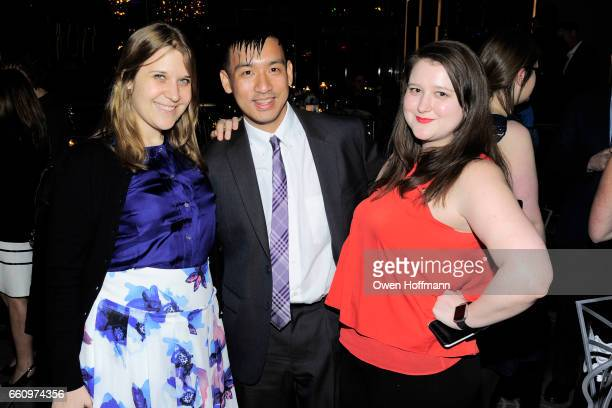 Amanda Duncan Michael Wong and Malarie Goodman attend Crown Media's Upfront Event at Rainbow Room on March 29 2017 in New York City