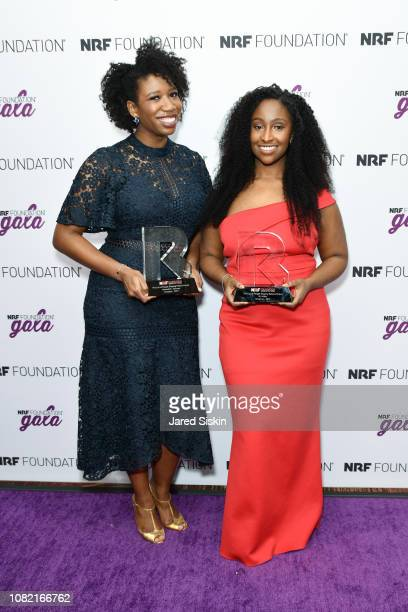 Amanda E Johnson and KJ Miller attend the 2019 NRF Foundation Gala at Sheraton New York Times Square on January 13 2019 in New York City