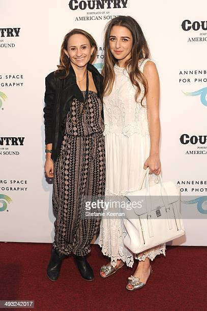 Amanda Ehrman and Shauna Miller attend the Annenberg Space for Photography Opening Celebration for Country Portraits of an American Sound at the...