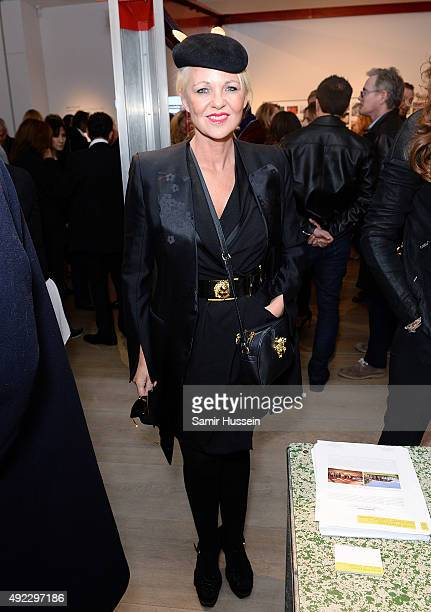 Amanda Eliasch attends a private gallery view before Laurence Patrick Seguin host an intimate dinner in celebration of the opening of their London...