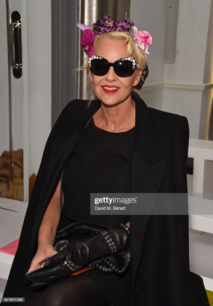 Amanda Eliasch attends the Jasper Conran SS18 catwalk show during London Fashion Week September 2017 on September 16, 2017 in London, United Kingdom.