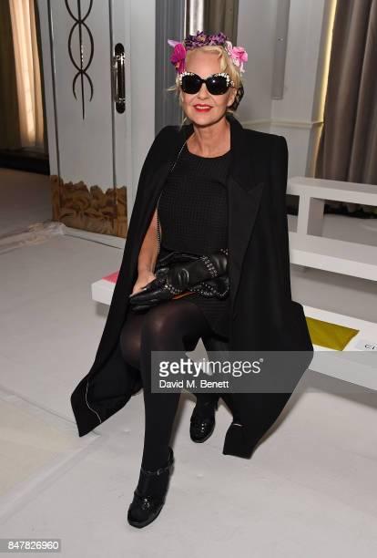 Amanda Eliasch attends the Jasper Conran SS18 catwalk show during London Fashion Week September 2017 on September 16 2017 in London United Kingdom