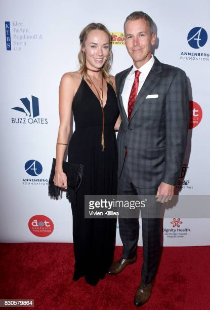Amanda Enfield and Andy Enfield attend the 17th Annual Harold Carole Pump Foundation Gala at The Beverly Hilton Hotel on August 11 2017 in Beverly...