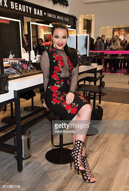 Amanda Ensing attends the NYX Professional Makeup Store Willowbrook Grand Opening Ribbon Cutting on February 19 2016 in Wayne New Jersey