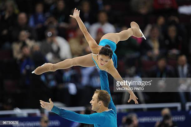 Amanda Evora and Mark Ladwig of the US perform during the figure skating pairs free program at the 2010 Winter Olympics at the Pacific Coliseum in...