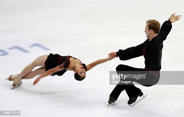 Amanda Evora and Mark Ladwig of USA competes in the Pairs Short Program during of the ISU Grand Prix of Figure Skating 2010/2011 Cup of Russia at...