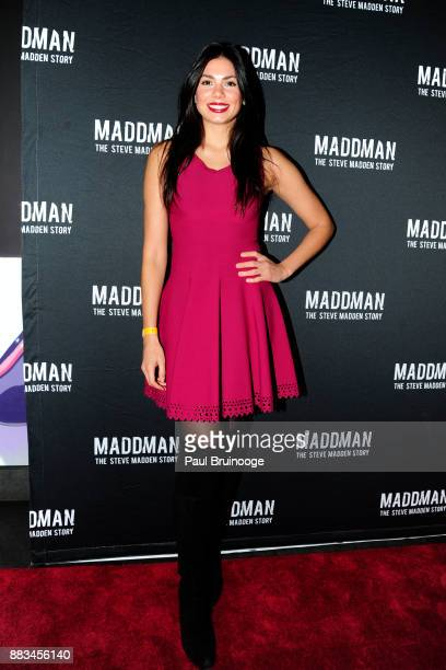 Amanda Faical attends New York Premiere of 'MADDMAN The Steve Madden Story' at iPic Theater on November 30 2017 in New York City