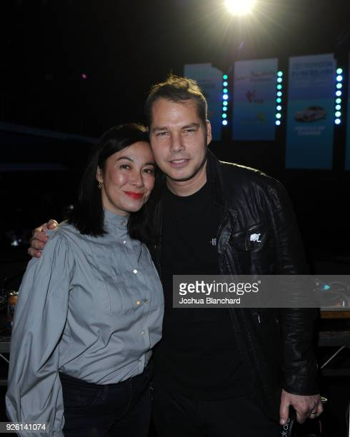 Amanda Fairey and Shepard Fairey attend Keep It Clean To Benefit Waterkeeper Alliance on March 1 2018 in Los Angeles California