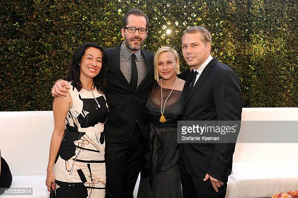 Amanda Fairey Eric White actress Patricia Arquette and artist Shepard Fairey attend the 2015 MOCA Gala presented by Louis Vuitton at The Geffen...