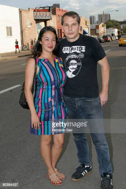 Amanda Fairy and Shepard Fairey attend Unconventional '08 at The Manifest Hope Gallery on August 27 2008 in Denver CO