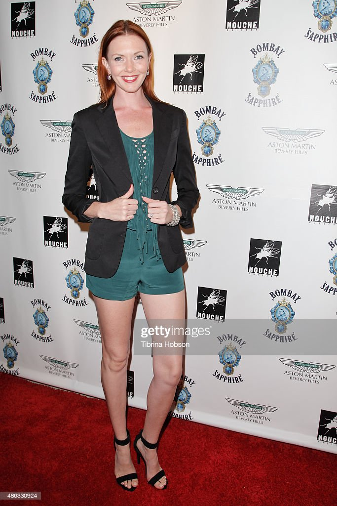 Amanda Fields attends the VIP opening reception for 'Dis-Ease', an evening of fine art with Billy Morrison at Mouche Gallery on September 2, 2015 in Beverly Hills, California.